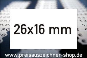 Etiketten 26x16 mm rechteckig