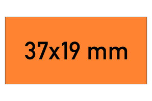 Etiketten 37x19 mm orange