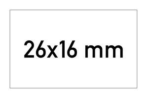 Etiketten 26x16 mm rechteckig weiss