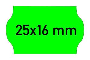 Etiketten 25x16 mm Contact grün