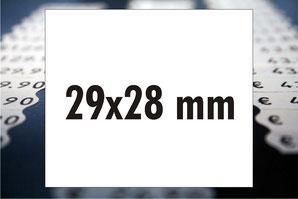 Etiketten 29x28 mm