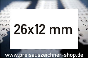 Etiketten 26x12 mm rechteckig