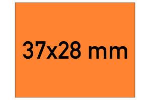 Etiketten 37x28 mm orange