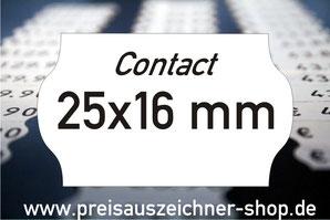 Etiketten 25x16 mm Contact