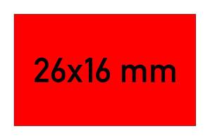 Etiketten 26x16 mm rechteckig rot