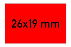 Etiketten 26x19 mm rechteckig rot