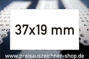 Etiketten 37x19 mm