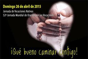 Cartel Jornada de Vocaciones Nativas y 52ª Jornada Mundial de Oración por las Vocaciones