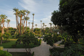 Garten des Old Winter Palace - Luxor