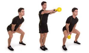 leg exercises kettlebell swing