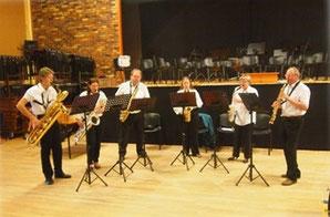 Le groupe de saxophones