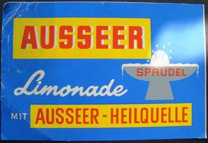 Ausseer Limonade - Sprudel (Ausseer - Heilquelle). Kahlenberg-Graphik Ende der 1950er Jahre.