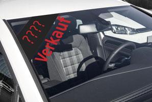 Verkauf eines Autos - Gebrauchtwagenwertermittlung