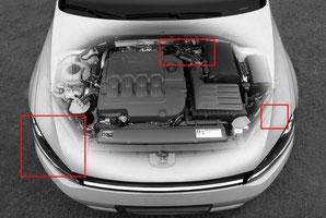 Prüfung von Autos im Detail
