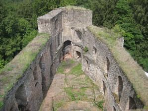Blick in den Pallas vom Bergfried aus
