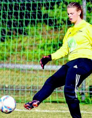 Strahlt einfach Ruhe aus: Celine Ziegler, die junge Nummer eins von Hessenligist TuS Viktoria Großenenglis. Foto: Pressebilder Hahn