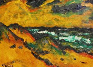 Max Pechstein - der Blick von der Düne auf das Haff