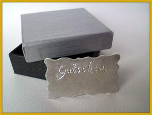 Der besondere Gutschein in Silber