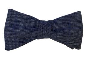 Anzug Fliege zum selbstbinden in blau, paisleymuster - Schleife