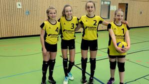 es spielten: v.l.n.r.: Kristin Fisser, Nova Preuß, Mila Wolf und Marie de Vries