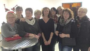 das Orga-Team v.l.n.r.:  Gerda Spethmann, Bärbel Igelmann, Gerda Harken, Elke Hoffmann, Luise Hiersemann, Sylvia Bokelmann, Christa Reiners, Menna Scholz und Ute Kunath