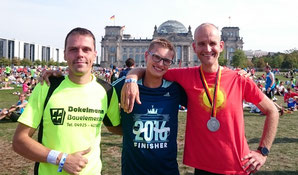 vlnr. Enrico Zieker, Jan-Aiko Köhler ELG (2:52:11 PB + AK Sieg), Ralf Mennenga ELG (2:51:55)