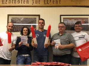 Auf dem Foto v.l.n.r.: Die Macher: Bastian Kahlert, Anne Ignatzek, Enrico Zieker, Ralf Ackmann und Michael Engelbarts-Bremer, es fehlt Wolfgang Peters