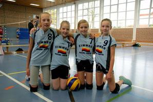 Spielerinnen v.l.n.r.: Louise Harding, Marie de Vries, Nele Siedler, Nova Preuß