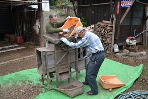 蕎麦の収穫時に使う唐箕