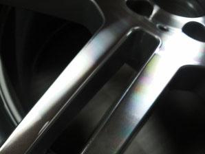 千葉県松戸市 TRラディックス アルミホイールのミラーカット修理 切削加工 ダイヤモンドカット加工 ヘアライン加工