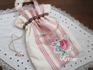 パッチワーク教室ルトゥール ブロードリーパース巾着バッグ