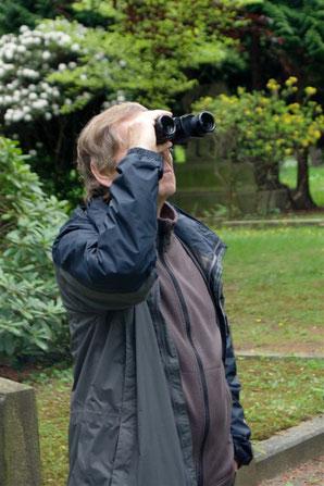 Stunde der Gartenvögel auf dem Südfriedhof. Foto: René Sievert