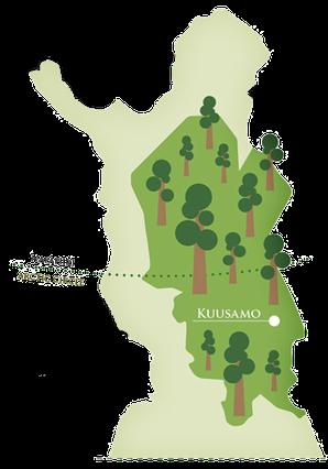 Einzugsgebiet des Holzes - Kuusamo Log Houses
