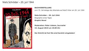 Büchergilde Gutenberg, Wittenbergplatz Berlin, 20.Juli1944, Stauffenberg, Attentat-auf-Hitler, Niels Schröder, Graphic-Novel