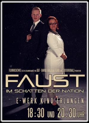 Christian Kern & Linda-Marie Runkel bei der Vorstellung im E-werk Kino Erlangen.