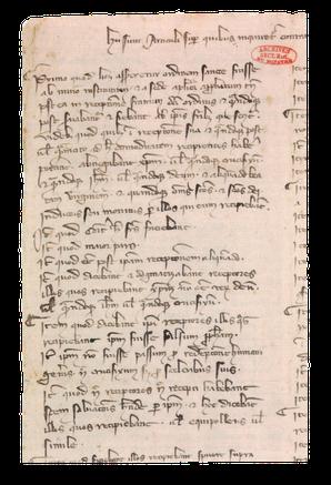 Papier, latin. 32 x 24 cm. Archives nationales, J 413, n° 24 ter. Temple de Paris