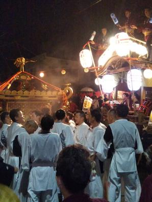 佐倉の秋祭り 宮入