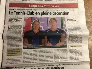 presse, article, langeac, Langeac, tennis