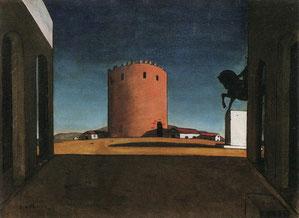 ジョルジョ・デ・キリコ「赤い塔」(1913年)