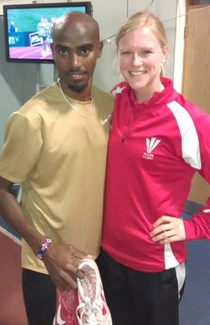 Met the legend himself - Mo Farah at one of many events with Welsh Athletics
