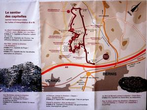"""Ce cartoguide est à votre disposition gratuitement à la mairie de Bernis ou auprès de l'association """"Les Amis de Bernis"""""""
