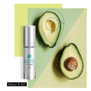 Beauty Hills, Kosmetik, Wirkstoffe für schöne gesunde Haut, Avocado, Natural E Oil, Vitamin E