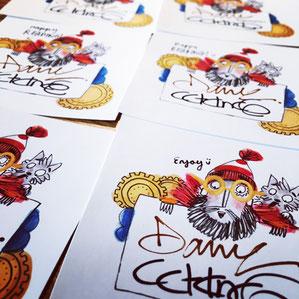 signed bookplates by Catalina Echeverri