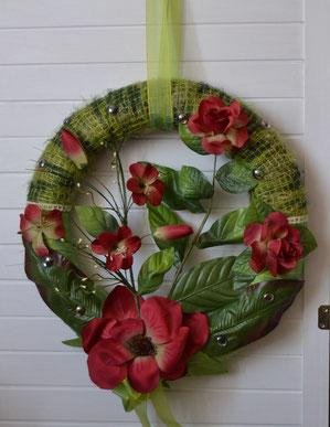 Wandkranz grün-rot