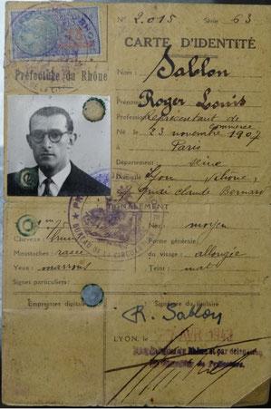 fausse carte d'identité de Roger Solovieff