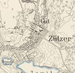 Kartenausschnitt Rittergut Zützer