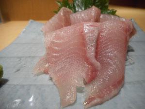 Atka Mackerel Sashimi 890 yen