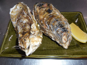 Oyster with Lemon or Ponzu Sauce 1,100 yen