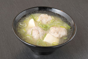Atka mackerel Ball in Miso Soup 550 yen