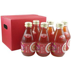 ●中まで赤〜いりんごジュース 小瓶180ml╳6